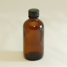 Bottle 100 ml Glass Amber 24mm with Black Sealing Cap