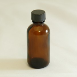 Bottle 50 ml Glass Amber 20mm with Black Sealing Cap