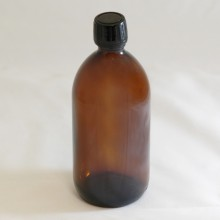Bottle 500 ml Glass Amber with 28 mm Black Sealing cap