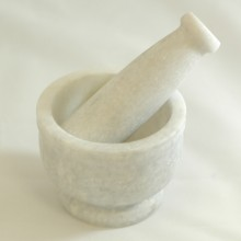 "Mortar and Pestle 4"" x 4"" Marble"