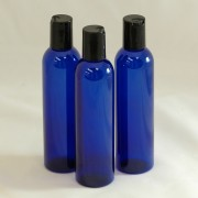Bottle 250ml PET Cobalt Blue 24mm with Black Dispensing Cap